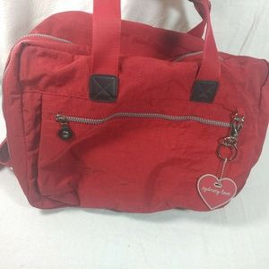 sydney love red carry on luggage packable multi po